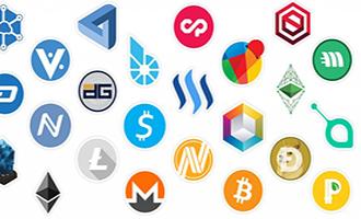 Logos principales cryptomonnaies