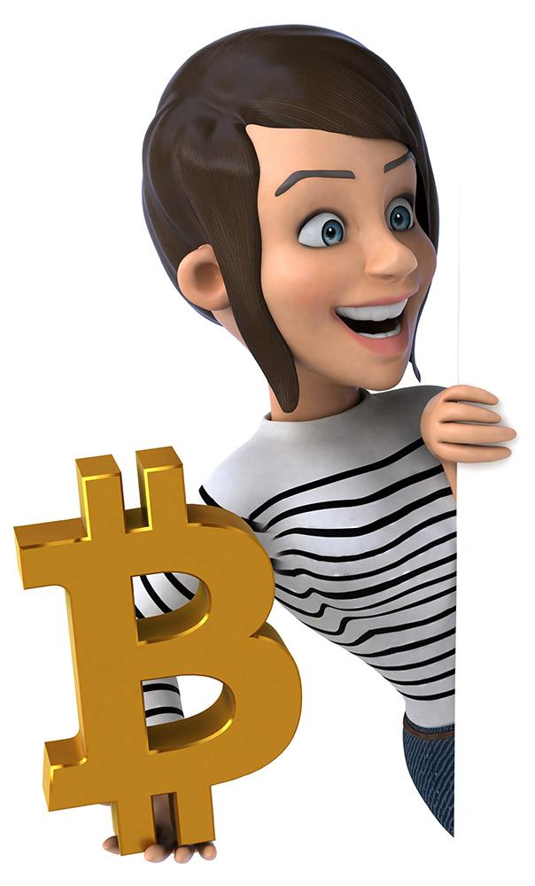 Bitcoin femme bannière